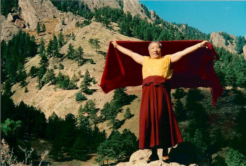 Khenpo Tsultrim Gyamtso Rinpoche Flying